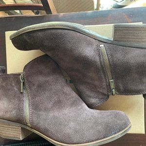 Lucky Brand Brown Suede Basel Booties 10M